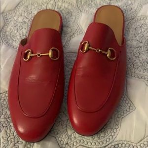 Auth Gucci Women's Princeton Leather Mules sz38.5